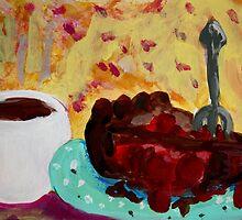 Coffee And Cherry Pie by Kate Delancel Schultz
