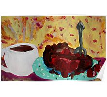 Coffee And Cherry Pie Poster