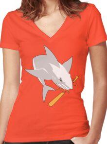 The White Shark Women's Fitted V-Neck T-Shirt