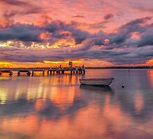Military Jetty Sunrise - Caloundra Qld Australia by Beth  Wode