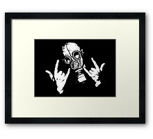 Devil Horns Framed Print