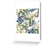 Blue iris and lilies  Greeting Card