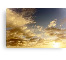 Caribbean Clouds at Sunset Canvas Print