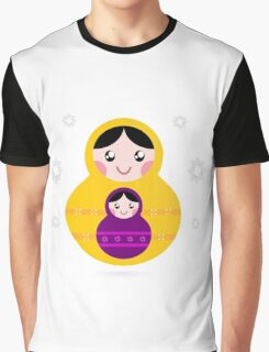 Russian nested Dolls ( Matryoshka ) Graphic T-Shirt