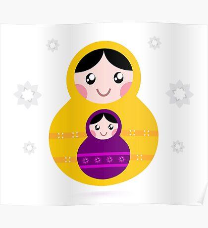 Russian nested Dolls ( Matryoshka ) Poster