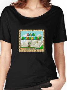 Super Mario World title screen Women's Relaxed Fit T-Shirt