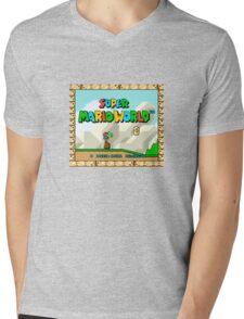 Super Mario World title screen Mens V-Neck T-Shirt