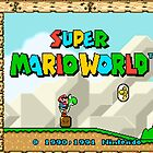 Super Mario World title screen by kebuenowilly