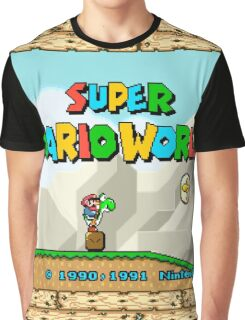 Super Mario World title screen Graphic T-Shirt