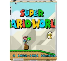 Super Mario World title screen iPad Case/Skin