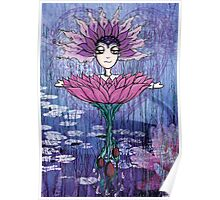 Girl Quirky Lotus Poster