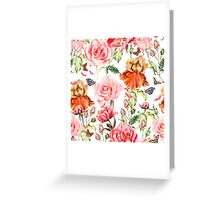Pink and red bouquet  Greeting Card