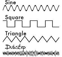 Sine, Square, Triangle...DUBSTEP! Photographic Print
