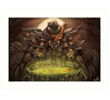 Double Double Toil and Trouble Art Print