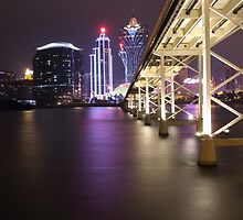Night Time Reflections of Macau # 2 by Elisabeth Thorn