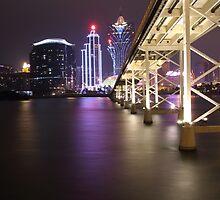 Night Time Reflections of Macau # 2 by Elisabeth Thorn