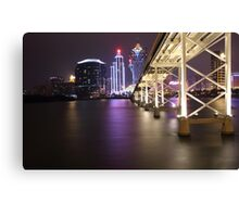Night Time Reflections of Macau # 2 Canvas Print