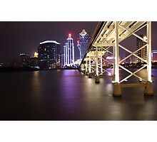 Night Time Reflections of Macau # 2 Photographic Print