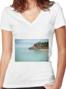 Point King Beach, Portsea - Australia Women's Fitted V-Neck T-Shirt