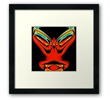 red alien  Framed Print