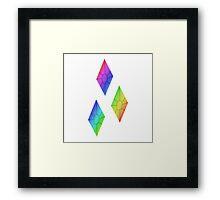 MLP - Cutie Mark Rainbow Special - Rarity V2 Framed Print