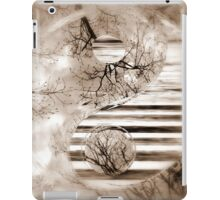 Yin Yang Softness and Transparency in Sepia iPad Case/Skin