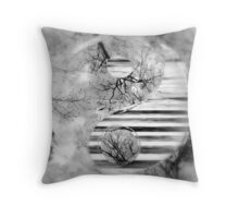 Yin Yang Softness and Transparency in Black and White Throw Pillow
