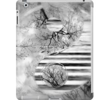 Yin Yang Softness and Transparency in Black and White iPad Case/Skin