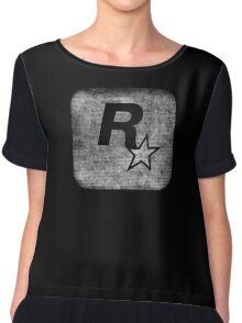 °GEEK° Rockstar B&W Logo Chiffon Top
