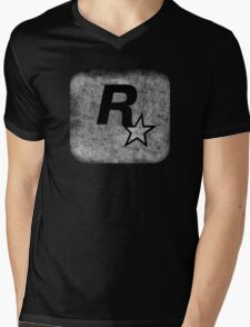 °GEEK° Rockstar B&W Logo Mens V-Neck T-Shirt