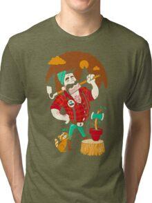 Green Thumberjack Tri-blend T-Shirt