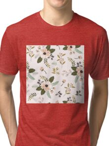 White and pink vintage Tri-blend T-Shirt
