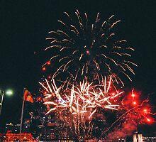 Lantern Festival Fireworks II by strangerandfict