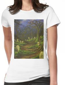The lonely path Womens Fitted T-Shirt
