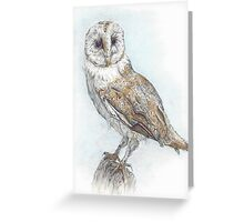 Tea Stained Owl Greeting Card