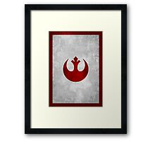 Rebel Alliance vintage old logo Framed Print