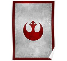Rebel Alliance vintage old logo Poster