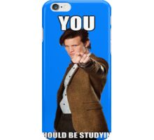 Eleventh Doctor-Studying iPhone Case/Skin
