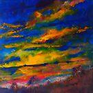 The sun rises, heralding in a new day - Kilmore East VIC Australia by Margaret Morgan (Watkins)