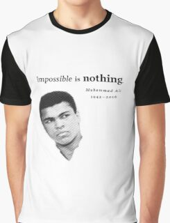 Muhammad Ali - Impossible is Nothing Graphic T-Shirt