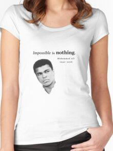 Muhammad Ali - Impossible is Nothing Women's Fitted Scoop T-Shirt