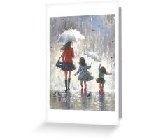 RAINY DAY WALK WITH MOM Greeting Card