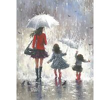 RAINY DAY WALK WITH MOM Photographic Print