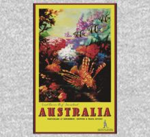 """AUSTRALIA GREAT BARRIER REEF"" Travel Print One Piece - Short Sleeve"