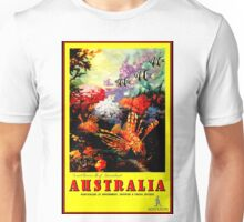 """AUSTRALIA GREAT BARRIER REEF"" Travel Print Unisex T-Shirt"
