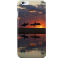 surfer silhouettes I iPhone Case/Skin