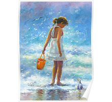BEACH BABE LITTLE BEACH GIRL Poster