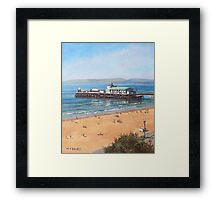 Bournemouth Pier summer morning from cliff top Framed Print