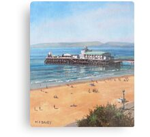 Bournemouth Pier summer morning from cliff top Metal Print