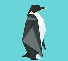 fractal geometric emperor penguin by Budi Satria Kwan